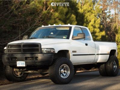 1998 Dodge Ram 3500 - 16x10 -38mm - Alloy Ion 171 - Leveling Kit - 315/75R16