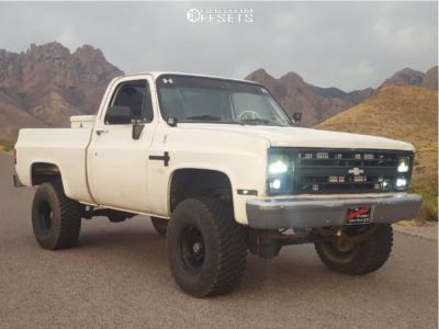 "1987 Chevrolet V10 - 15x10 -24mm - American Racing Ar-767 - Suspension Lift 3"" - 33"" x 12.5"""