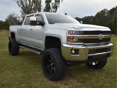 "2015 Chevrolet Silverado 2500 HD - 24x12 -44mm - Havok H112 - Suspension Lift 7.5"" - 37"" x 13.5"""