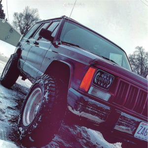 """1993 Jeep Cherokee - 15x8 -30mm - Eagle Alloy 101 - Leveling Kit - 30"""" x 9.5"""""""