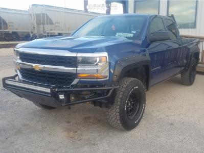 "2017 Chevrolet Silverado 1500 - 17x9 -12mm - Fuel Nitro - Body Lift 3"" - 285/70R17"