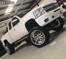 "2009 Chevrolet Silverado 1500 - 24x14 -76mm - Fuel FF29 - Lifted >9"" - 38"" x 13.5"""