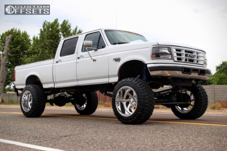 """1997 Ford F-250 - 22x14 -73mm - American Force BLADE SS - Suspension Lift 8"""" - 37"""" x 13.5"""""""