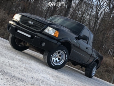 2002 Ford Ranger - 15x10 -46mm - Pro Comp Series 69 - Stock Suspension - 275/60R15