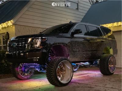 "2017 Chevrolet Tahoe - 26x16 -110mm - Intro Dynamics - Suspension Lift 10"" - 37"" x 13.5"""