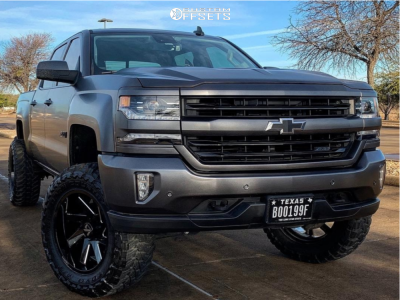"2017 Chevrolet Silverado 1500 - 20x10 -25mm - ARKON OFF-ROAD Lincoln - Suspension Lift 6"" - 35"" x 12.5"""