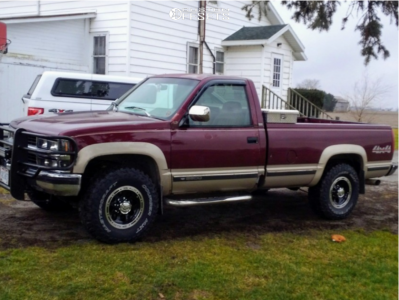 1993 Chevrolet K2500 - 16x8 0mm - Alloy Ion Style 174 - Stock Suspension - 285/75R16