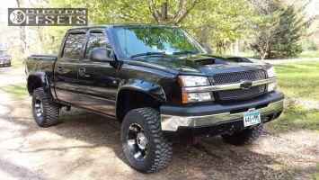 "2004 Chevrolet Silverado 1500 - 18x9 -12mm - KMC Spy - Suspension Lift 4"" - 33"" x 12.5"""