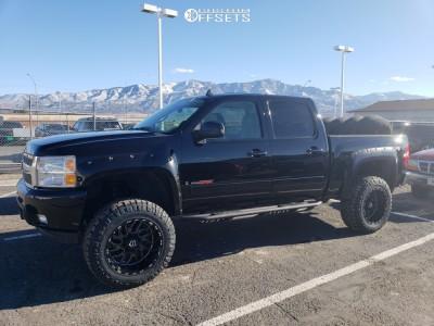 "2007 Chevrolet Silverado 1500 - 20x12 -44mm - TIS 544bm - Suspension Lift 6"" - 35"" x 12.5"""