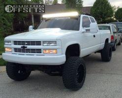 "1999 Chevrolet K1500 - 20x12 -44mm - Fuel Maverick - Suspension Lift 9"" - 35"" x 12.5"""