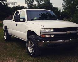 "2000 Chevrolet Silverado 1500 - 18x10 -25mm - Pacer Ridgeline - Leveling Kit - 32"" x 10.5"""