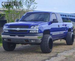 "2004 Chevrolet Silverado 1500 - 20x14 -76mm - Fuel Maverick - Suspension Lift 4.5"" - 33"" x 12.5"""
