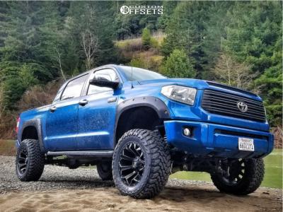"""2016 Toyota Tundra - 20x10 -18mm - Fuel Assault - Suspension Lift 7"""" - 35"""" x 12.5"""""""