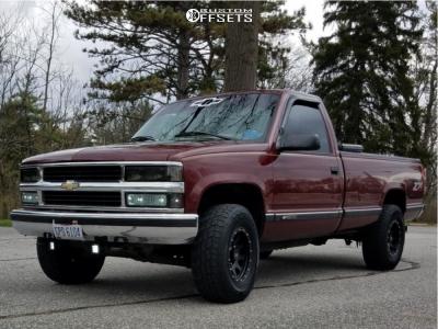 1997 Chevrolet K1500 - 16x9 -6mm - MB 352 - Stock Suspension - 235/70R16
