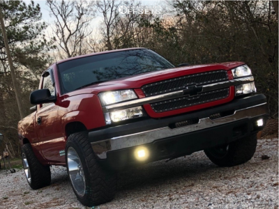 "2005 Chevrolet Silverado 1500 - 20x12 -44mm - Gear Off-Road Big Block - Leveling Kit - 33"" x 12.5"""
