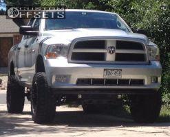 """2012 Ram 1500 - 20x10 -24mm - Fuel Full Blown - Suspension Lift 6"""" & Body 3"""" - 35"""" x 12.5"""""""