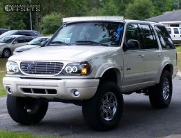 """1999 Ford Explorer - 17x8 10mm - Alloy Ion 18 - Suspension Lift 7"""" - 285/70R17"""