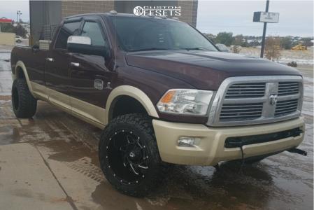"2012 Dodge Ram 3500 - 20x12 -44mm - Dropstar 652bm - Stock Suspension - 35"" x 12.5"""