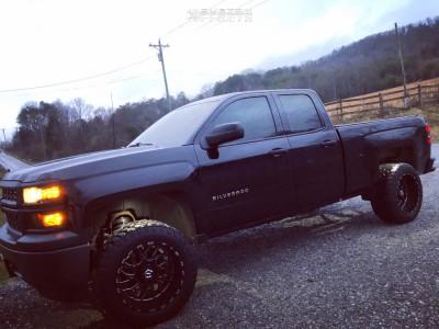 2014 Chevrolet Silverado 1500 - 20x12 -44mm - TIS 544bm - Leveling Kit - 305/55R20