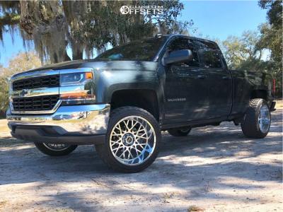"2018 Chevrolet Silverado 1500 - 22x12 -51mm - Vision Rocker - Leveling Kit - 33"" x 12.5"""