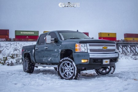 "2008 Chevrolet Silverado 1500 - 22x12 -44mm - American Truxx Vortex - Suspension Lift 6"" - 33"" x 12.5"""