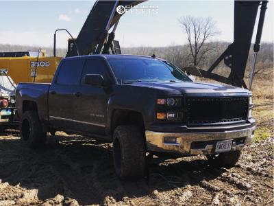"2014 Chevrolet Silverado 1500 - 20x12 -46mm - Dropstar 645mb - Suspension Lift 5"" - 33"" x 12.5"""