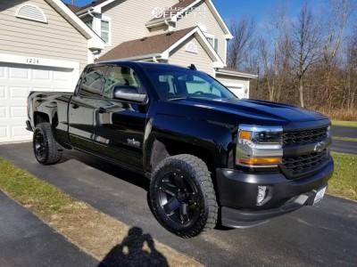 "2017 Chevrolet Silverado 1500 - 18x9 -12mm - Mamba M13 - Suspension Lift 2.5"" - 305/60R18"