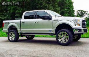"2015 Ford F-150 - 22x10 -24mm - Moto Metal MO976 - Suspension Lift 6"" - 35"" x 12.5"""