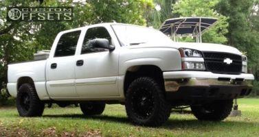 2006 Chevrolet Silverado 1500 - 18x9 0mm - Dropstars 645B - Leveling Kit - 285/65R18