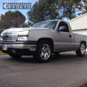 """2006 Chevrolet Silverado 1500 - 20x8.5 0mm - Chevy Tahoe - Level 2"""" Drop Rear - 275/20R20"""