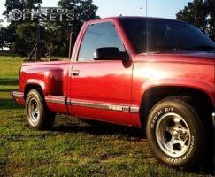 "1990 Chevrolet C1500 - 15x10.5 -20mm - Weld Racing 197 - Lowered 2F / 4R - 25"" x 10.5"""