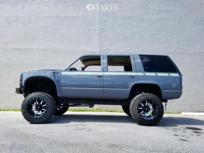 "1997 Chevrolet Tahoe - 20x14 -76mm - Fuel Maverick - Suspension Lift 6"" & Body 3"" - 35"" x 12.5"""