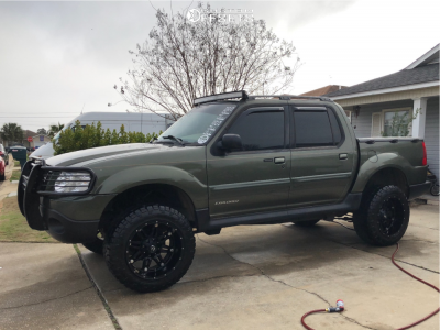 """2002 Ford Explorer Sport Trac - 20x12 -44mm - Fuel Hostage - Leveling Kit & Body Lift - 33"""" x 12.5"""""""