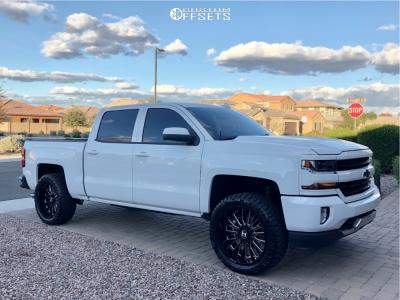 2018 Chevrolet Silverado 1500 - 22x10 -25mm - Hostile Fury - Leveling Kit - 305/45R22