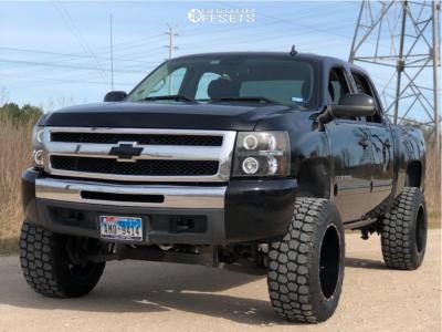 """2010 Chevrolet Silverado 1500 - 20x12 -44mm - Xtreme Mudder Xm-313 - Suspension Lift 6"""" - 35"""" x 12.5"""""""