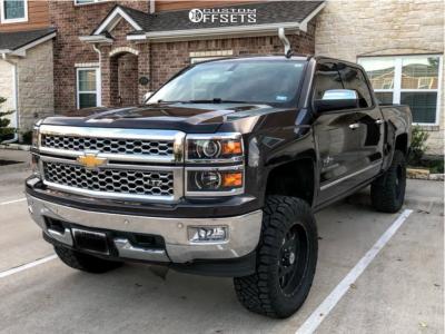 """2014 Chevrolet Silverado 1500 - 20x9 18mm - American Outlaw Marshal - Suspension Lift 6"""" - 35"""" x 12.5"""""""