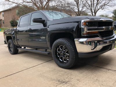 "2017 Chevrolet Silverado 1500 - 20x9 12mm - G-FX Tr10 - Suspension Lift 2.5"" - 275/60R20"