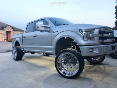 """2017 Ford F-150 - 24x12 -40mm - American Force Kash Ss - Suspension Lift 6.5"""" - 33"""" x 12.5"""""""