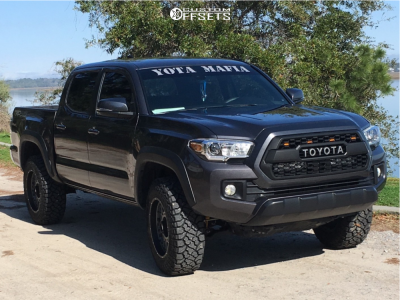 2018 Toyota Tacoma - 18x9 12mm - Vision Rocker - Stock Suspension - 265/65R18