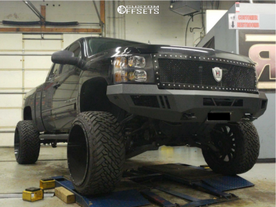 "2009 Chevrolet Silverado 1500 - 24x14 -75mm - Fuel Sledge - Suspension Lift 9.5"" - 35"" x 13.5"""