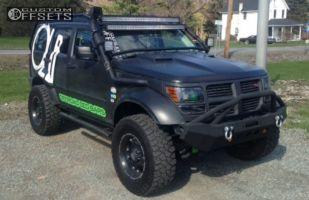 "2011 Dodge Nitro - 17x9 -12mm - Ballistic Hostel - Suspension Lift 4"" - 33"" x 10.5"""