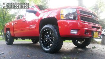 "2013 Chevrolet Silverado 1500 - 20x9 0mm - Ballistic Anvil - Leveling Kit - 33"" x 11.5"""