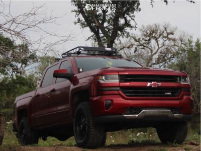 "2018 Chevrolet Silverado 1500 - 18x9 0mm - Xf Offroad Xf-203 - Suspension Lift 2.5"" - 285/65R18"