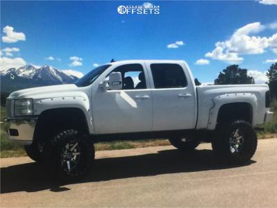 "2013 Chevrolet Silverado 1500 - 24x16 -100mm - Fuel Maverick - Suspension Lift 9"" - 38"" x 15.5"""