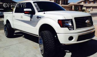 """2012 Ford F-150 - 22x14 -76mm - XD Diesel - Suspension Lift 6"""" - 35"""" x 12.5"""""""