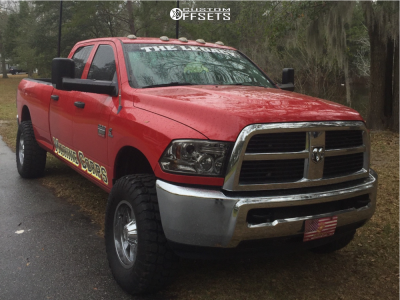 """2012 Dodge Ram 3500 - 18x10 -24mm - Moto Metal Mo962 - Leveling Kit - 35"""" x 12.5"""""""