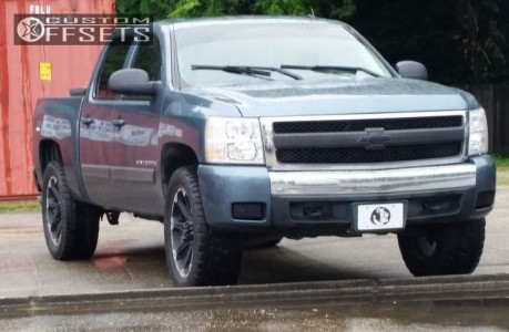 2007 Chevrolet Silverado 1500 - 22x9 12mm - Dick Cepek Torque - Leveling Kit - 285/50R22