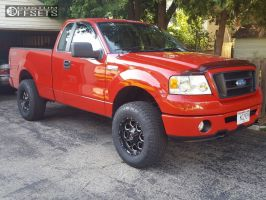 2007 Ford F-150 - 17x9 -12mm - Scorpion Sc10 - Leveling Kit - 285/70R17