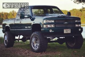 """1995 Chevrolet K1500 - 20x12 -44mm - Alloy Ion Style 183 - Suspension Lift 9"""" - 35"""" x 12.5"""""""