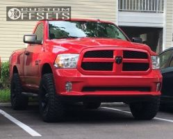 """2014 Ram 1500 - 20x9 -12mm - Red Dirt Road Digger - Leveling Kit & Body Lift - 35"""" x 12.5"""""""